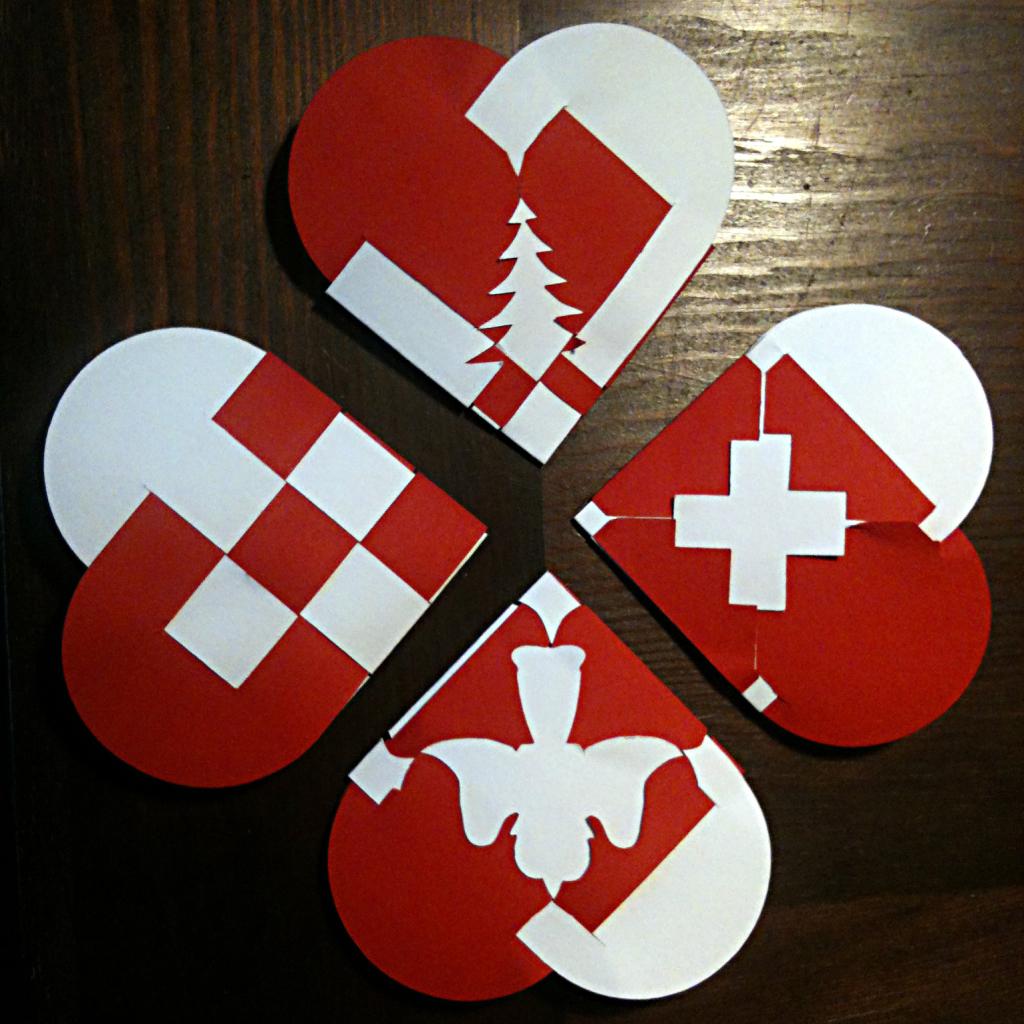 Dänische Weihnachts-Herzen