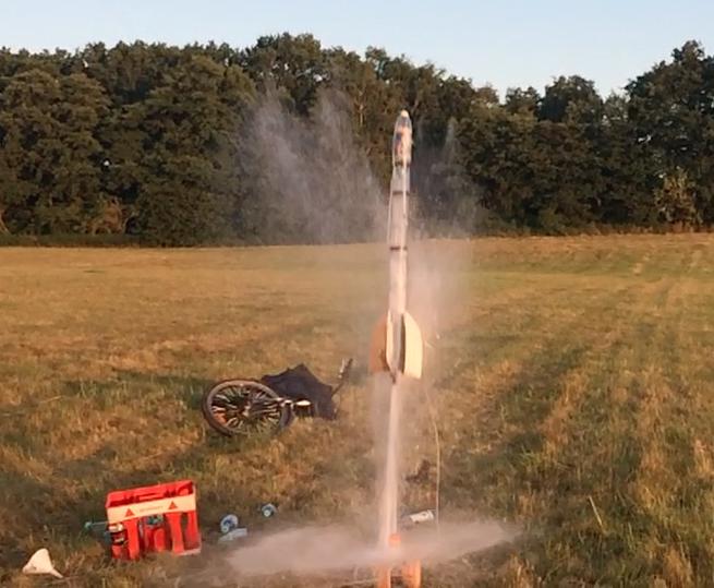 Unsere Rakete beim Start