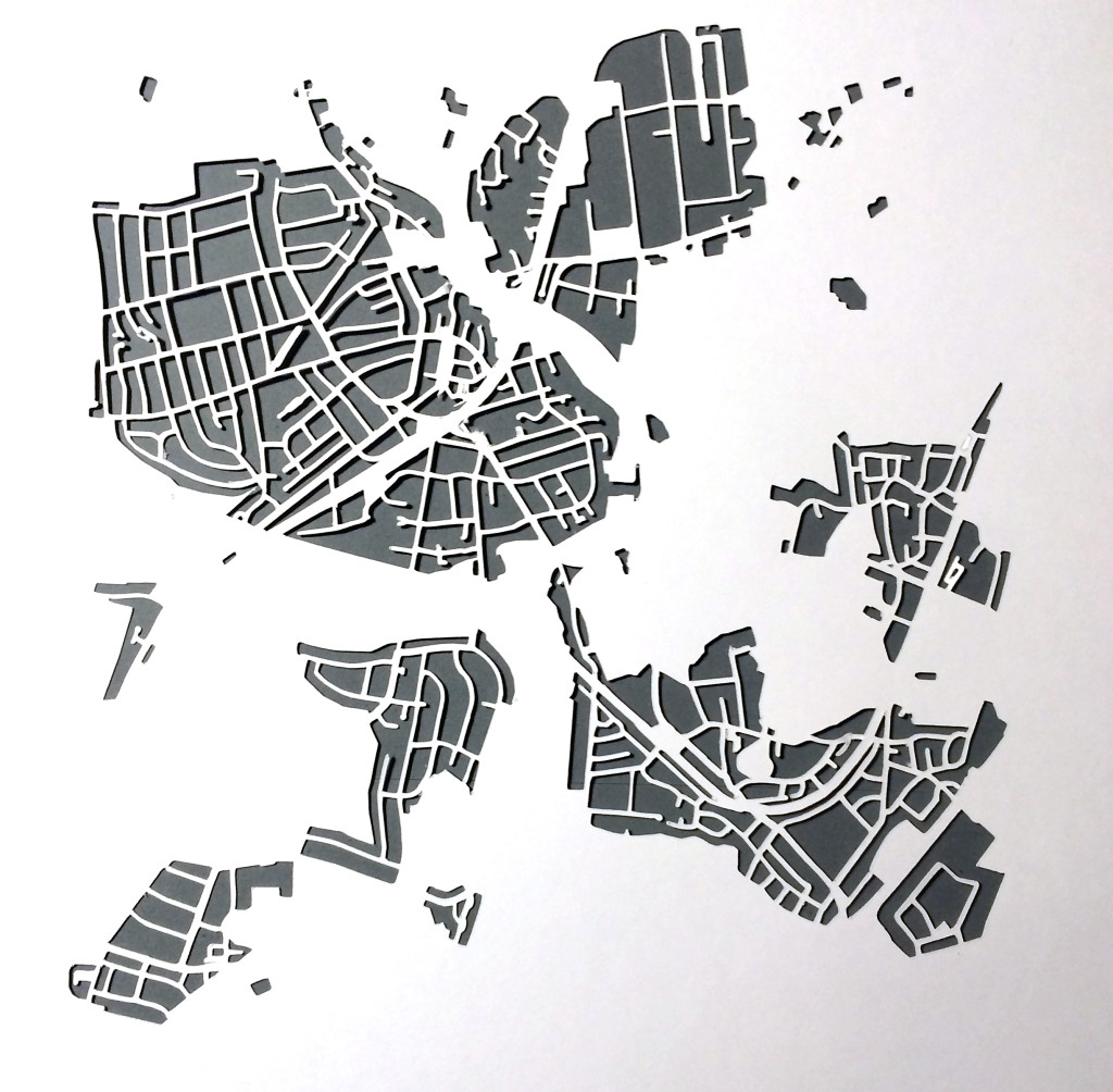Papierkarte Ahrensburg